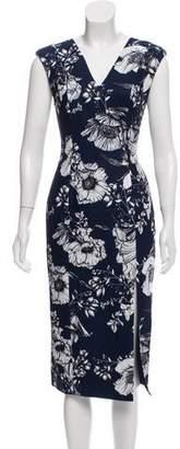 Fame & Partners Floral Print Midi Dress