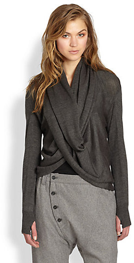 Nicholas K Zella Draped Twist-Front Sweater