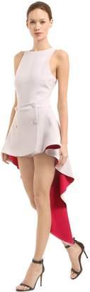 Antonio Berardi STRETCH CADY HIGH LOW DRESS