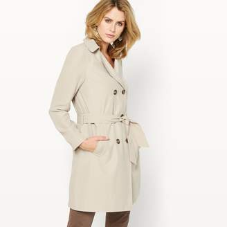 Anne Weyburn Draped Water-Repellent Trench Coat