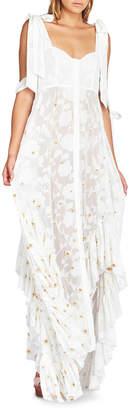 KIN951 Stephanie Frill Maxi Dress