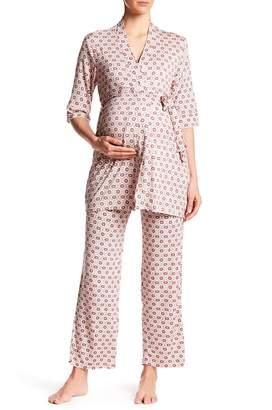 Everly Grey Maternity Susan 4-Piece Pajama Set (Maternity)