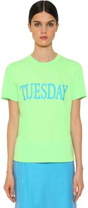 Alberta Ferretti Tuesday Cotton Jersey T-Shirt