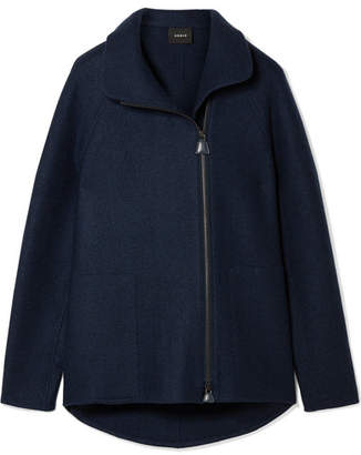 Akris Ray Cashmere-felt Jacket - Navy