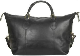 Barbour Leather Med Travel Explorer Bag