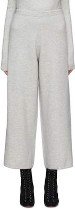 CRUSH Collection Cashmere blend knit wide leg pants
