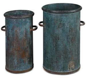 Uttermost Barnum Tarnished Copper Cans, Set of 2