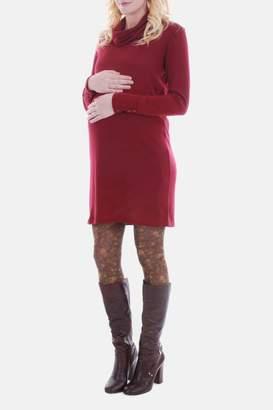 Everly Grey Maternity Marina Cowl Neck Dress (Maternity)