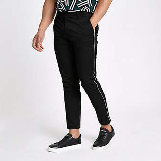 River Island Black pipe skinny fit chino pants