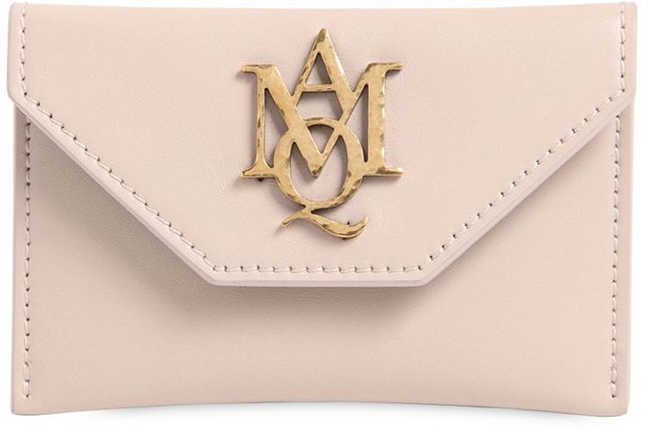Alexander McQueen Insignia Envelope Leather Card Holder