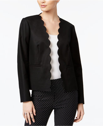 Maison Jules Long-Sleeve Scalloped Blazer, Only at Macy's $89.50 thestylecure.com