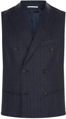 Pal Zileri Wool-Silk Pinstripe Waistcoat