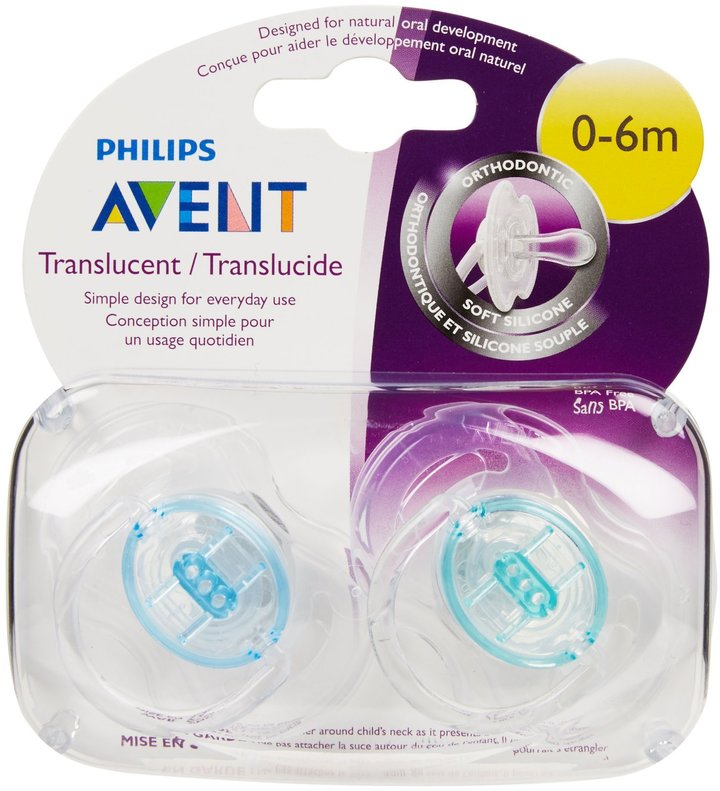 Avent Naturally Translucent Orthodontic Infant Pacifier