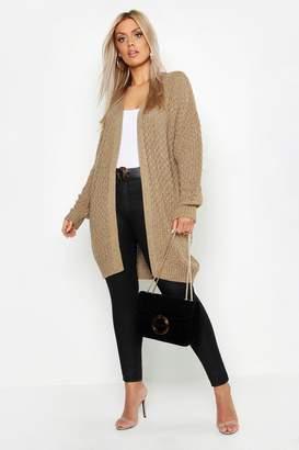 boohoo Plus Knitted Chunky Oversized Cardigan