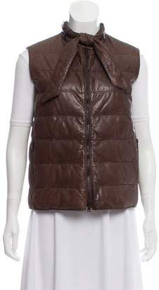 Brunello Cucinelli Quilted Leather Vest