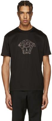 Versace Black Studded Medusa T-Shirt $425 thestylecure.com