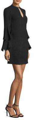 Shoshanna Tiered Bell-Sleeve Dress