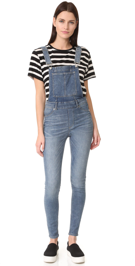 Cheap Monday Cheap Monday Dungaree Spray Blue Noise Overalls