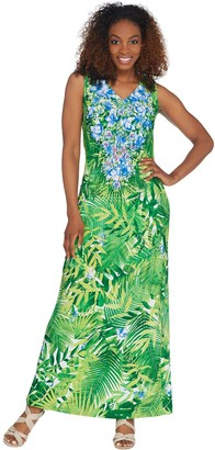 Linea By Louis Dell'olio by Louis Dell'Olio Regular Island Floral Maxi Dress