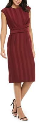 Maggy London Shadow Stripe Wrap Detail Dress