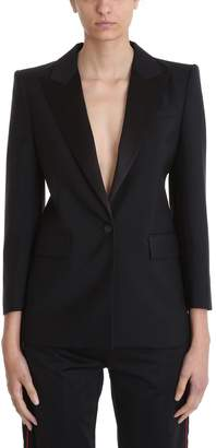 Givenchy Black Tuxedo Jacket In Mohair And Wool