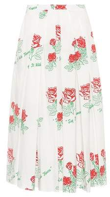 Rosie Assoulin Floral-printed stretch cotton skirt