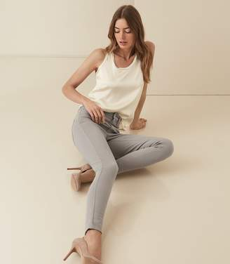 Reiss SKYE BI-STRETCH HIGH RISE SKINNY JEANS Light Grey