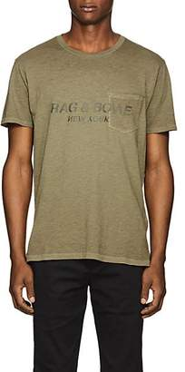 Rag & Bone MEN'S LOGO-PRINT COTTON T-SHIRT - OLIVE SIZE M