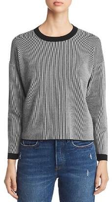Eileen Fisher Ribbed Striped Crewneck Sweater