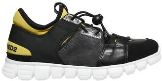 DSQUARED2 Nappa Leather & Neoprene Sneakers