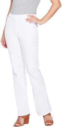 Halston H By H by Petite Studio Stretch Bootcut Pull-on Pants