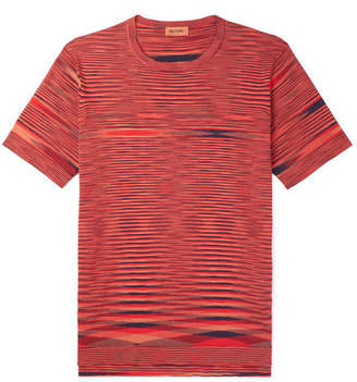Missoni Space-Dyed Cotton T-Shirt - Orange