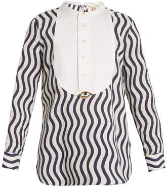 Figue Evil Eye-embellished cotton shirt