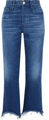 3x1 Austin Frayed High-Rise Bootcut Jeans