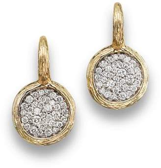 Bloomingdale's Pavé Diamond Circle Drop Earrings in 14K Yellow Gold, .75 ct. t.w. - 100% Exclusive