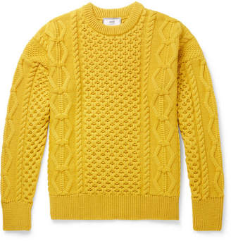 Ami Cable-Knit Merino Wool Sweater