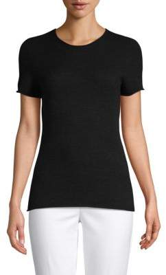 Saks Fifth Avenue Featherweight Cashmere Crewneck Tee