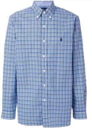 Polo Ralph Lauren logo patch plaid shirt
