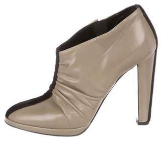 Pierre Hardy Ruched Leather Booties