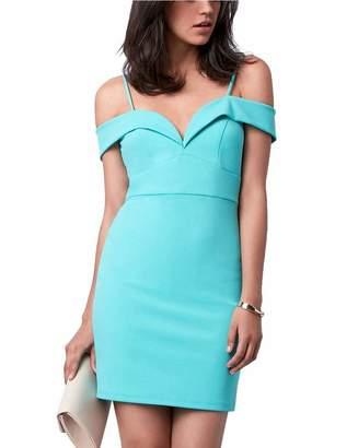 Le Château Women's Sweetheart Cold Shoulder Cocktail Dress,M