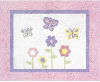 JoJo Designs Sweet Butterfly Floor Pink & Purple Area Rug Rug
