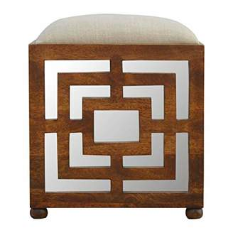 Artisan Furniture IN2091 Hand Carved Square Foot Seat Stool
