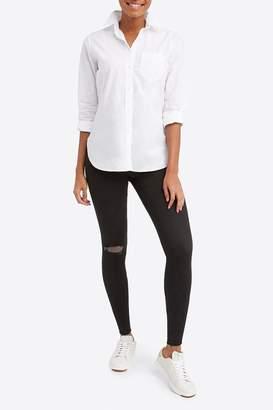 Spanx Womens Distressed Skinny Jeans - Black