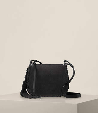 AllSaints Mori Nubuck Crossbody Bag