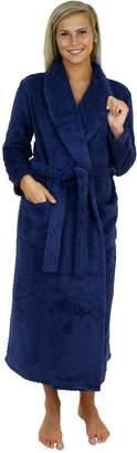 Sleepyheads Women's Fleece Long Robe (SH1400-4021-CAN-)