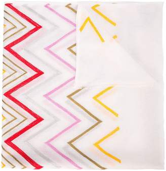 Janavi Airy chevron cashmere scarf