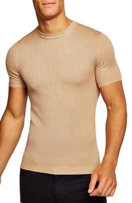Topman Short Sleeve Muscle Fit Shirt