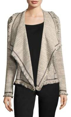 Lafayette 148 New York Draped Tweed Jacket