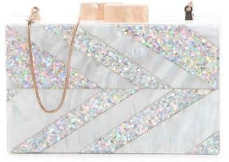 Sam Edelman Glitter Chevron Clutch - Women's