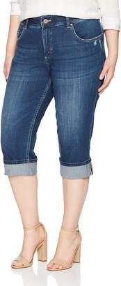 eab2cced26366 Lee Indigo Women s Plus Size Modern Collection Denim Skinny Cuffed Capri